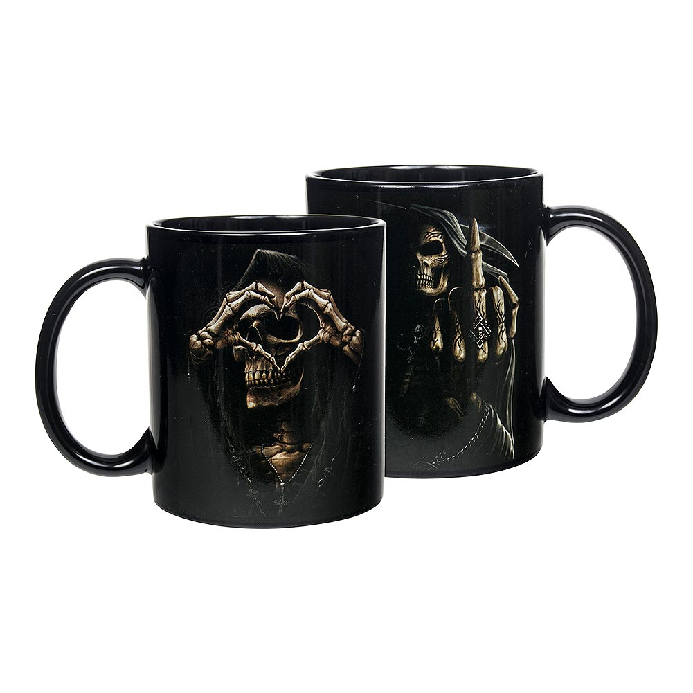 Spiral Direct Bone Finger Mug Set of 2 (Black)