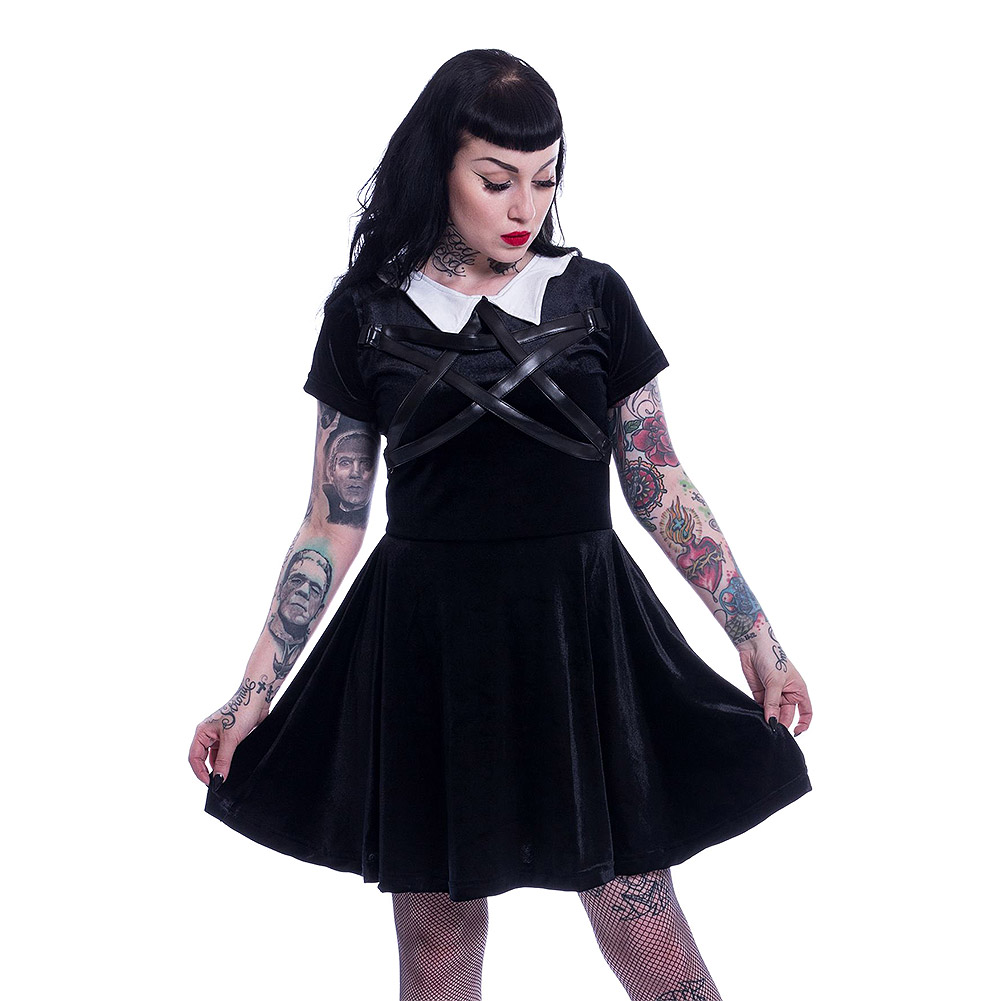 Heartless Wednesday Night Dress (Black) for cheap