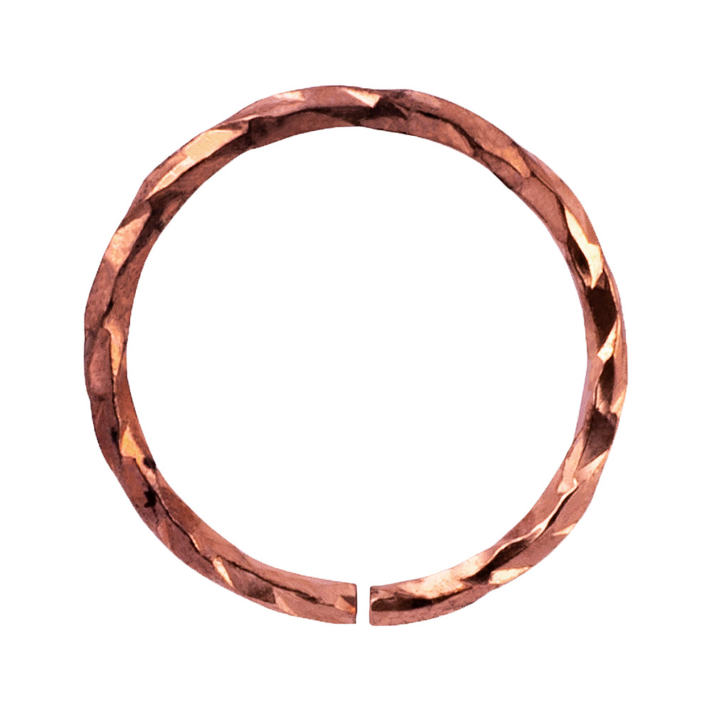 Blue Banana Surgical Steel 1.0mm Silver Seamless Ring (Rose Gold)