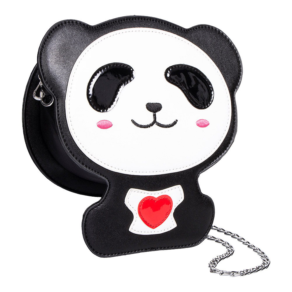 Blue Banana Panda & Heart Bag (Multicoloured)