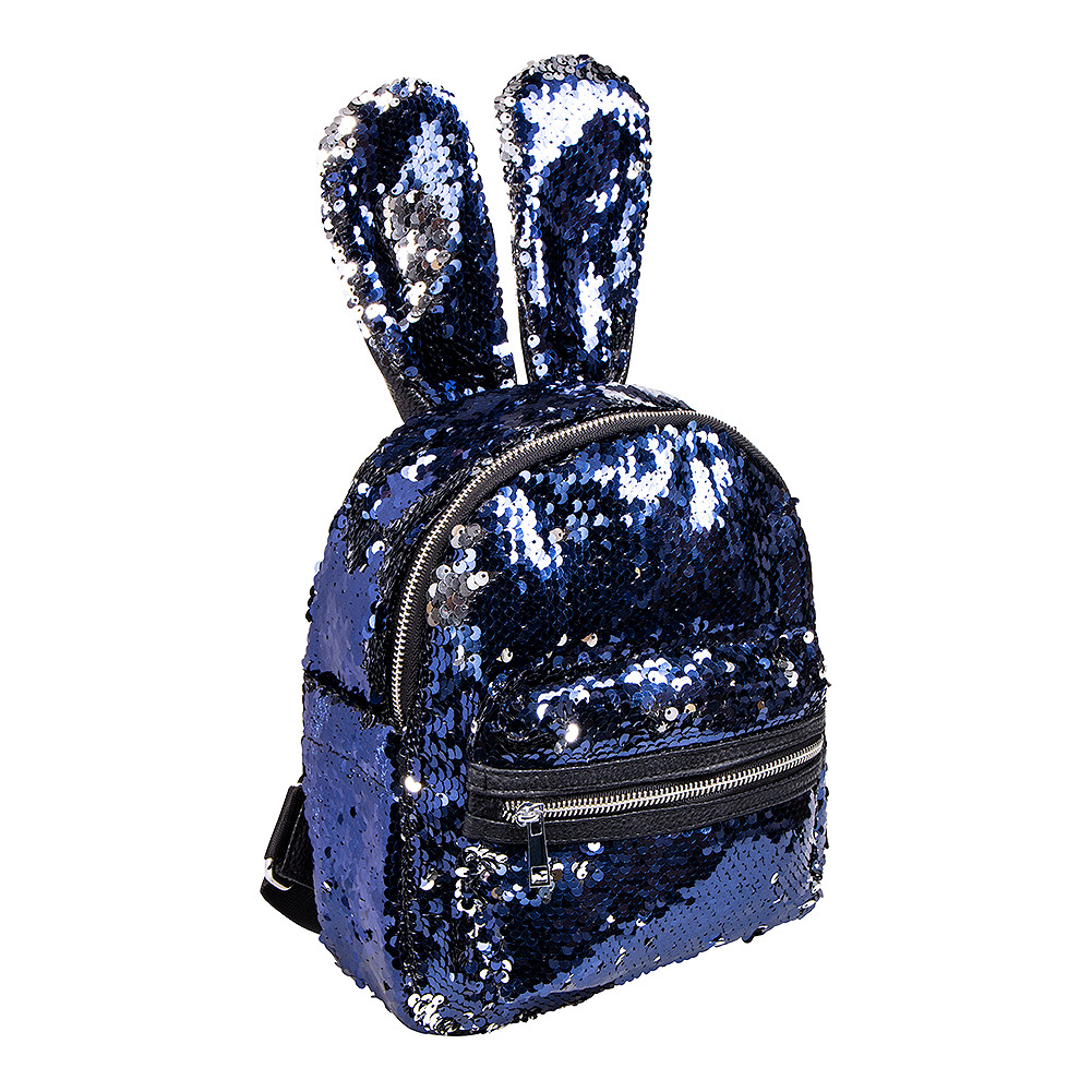 Blue Banana Two Way Sequin Ears Backpack (Blue/Silver)