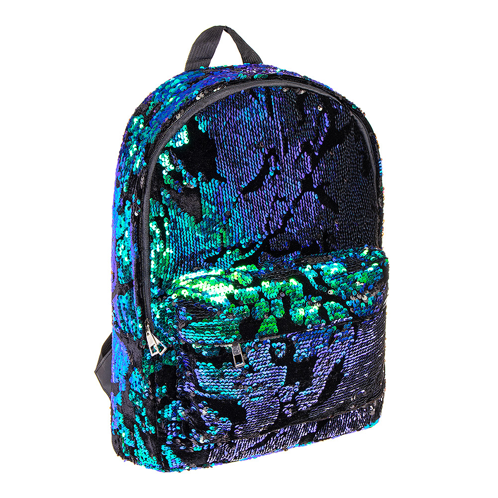 Blue Green Sequin Backpack  f5a208c9a1c97