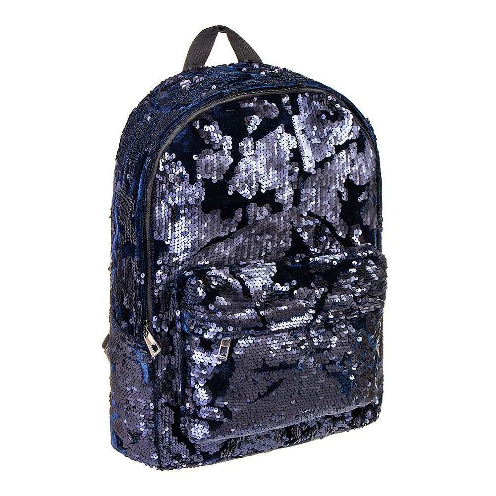 Blue Black Sequin Backpack  a721ac609de2a