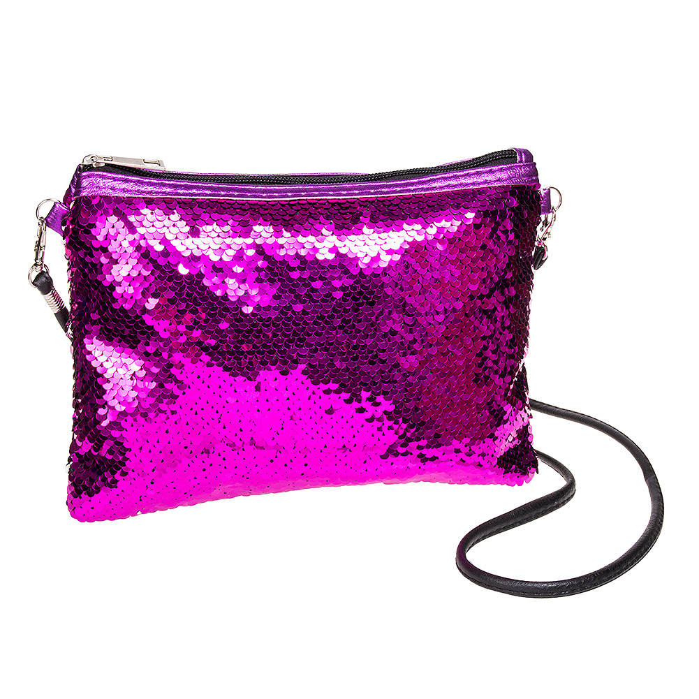 a186f9c0e Details about Blue Banana Two Way Sequin Party Womens Hot Pink Clutch Bag/Evening  Purse