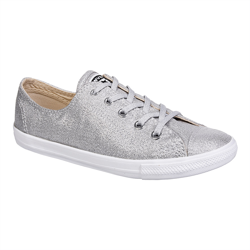 Converse All Star Dainty Ox Shoes (Silver)