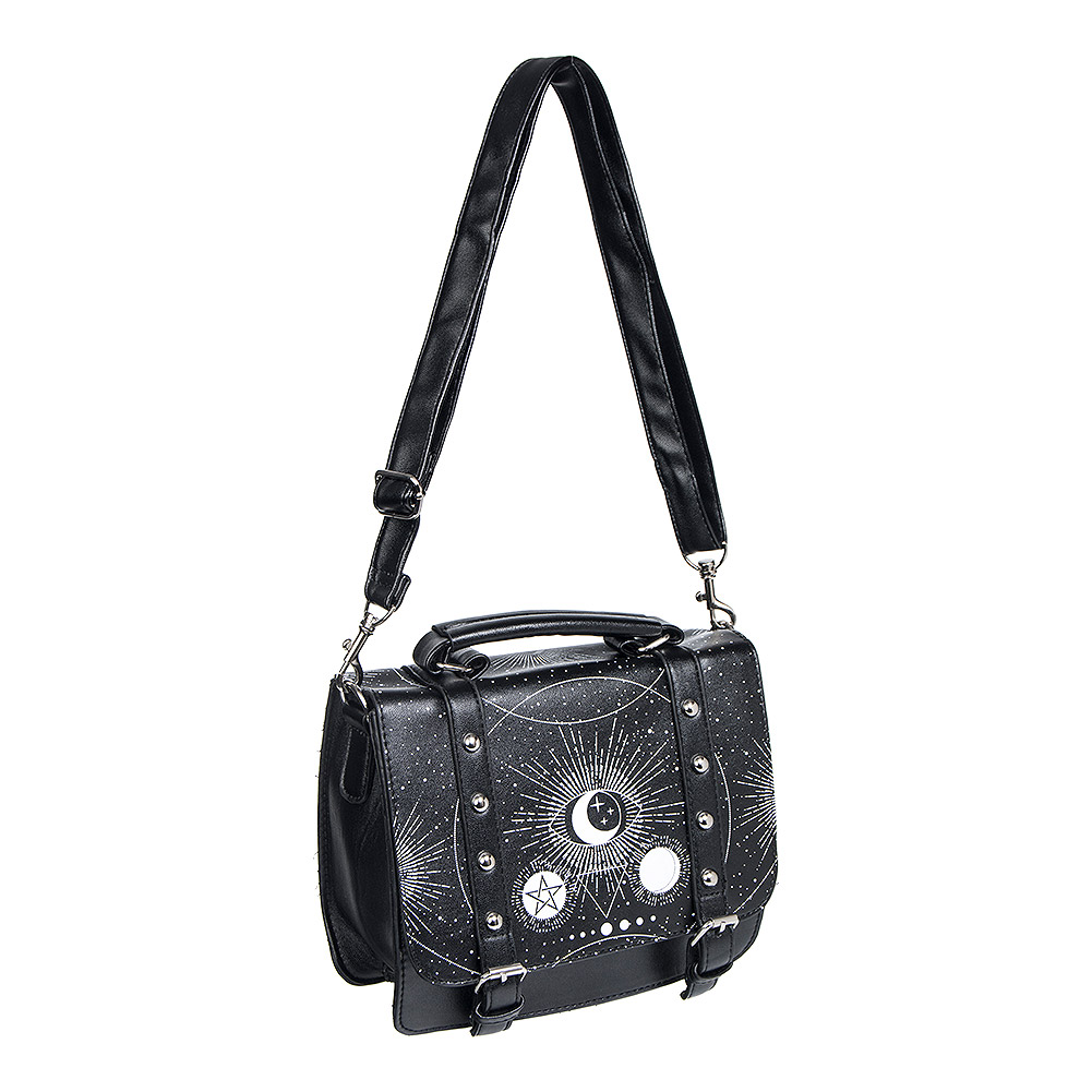 Banned Cosmic Satchel Bag (Black/White)