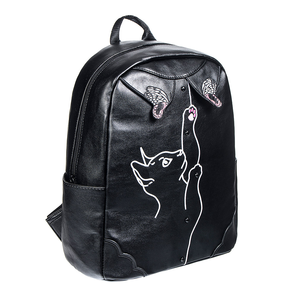 Banned Meow Backpack (Black)