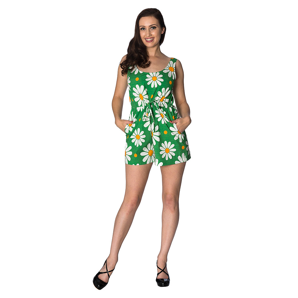 Banned Crazy Daisy Playsuit (Green)