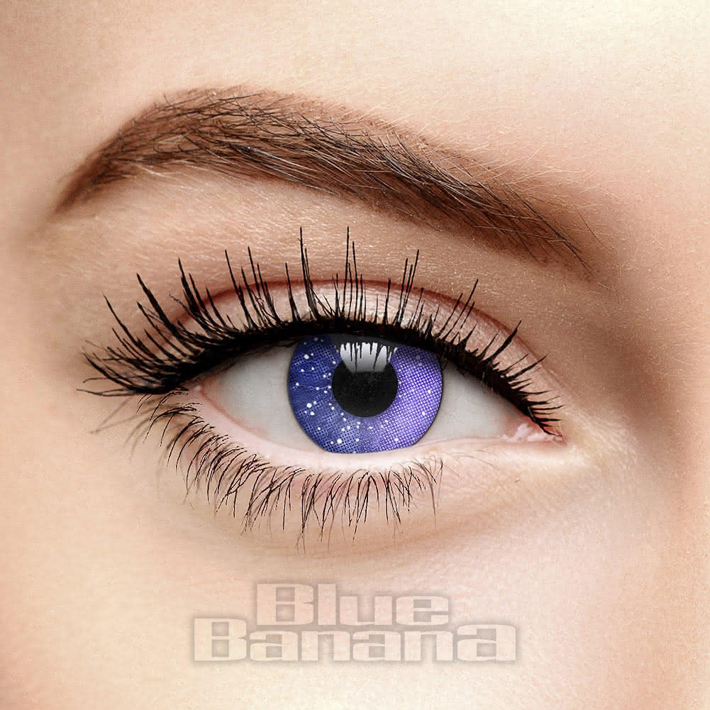Galaxy 90 Day Coloured Contact Lenses (Violet)