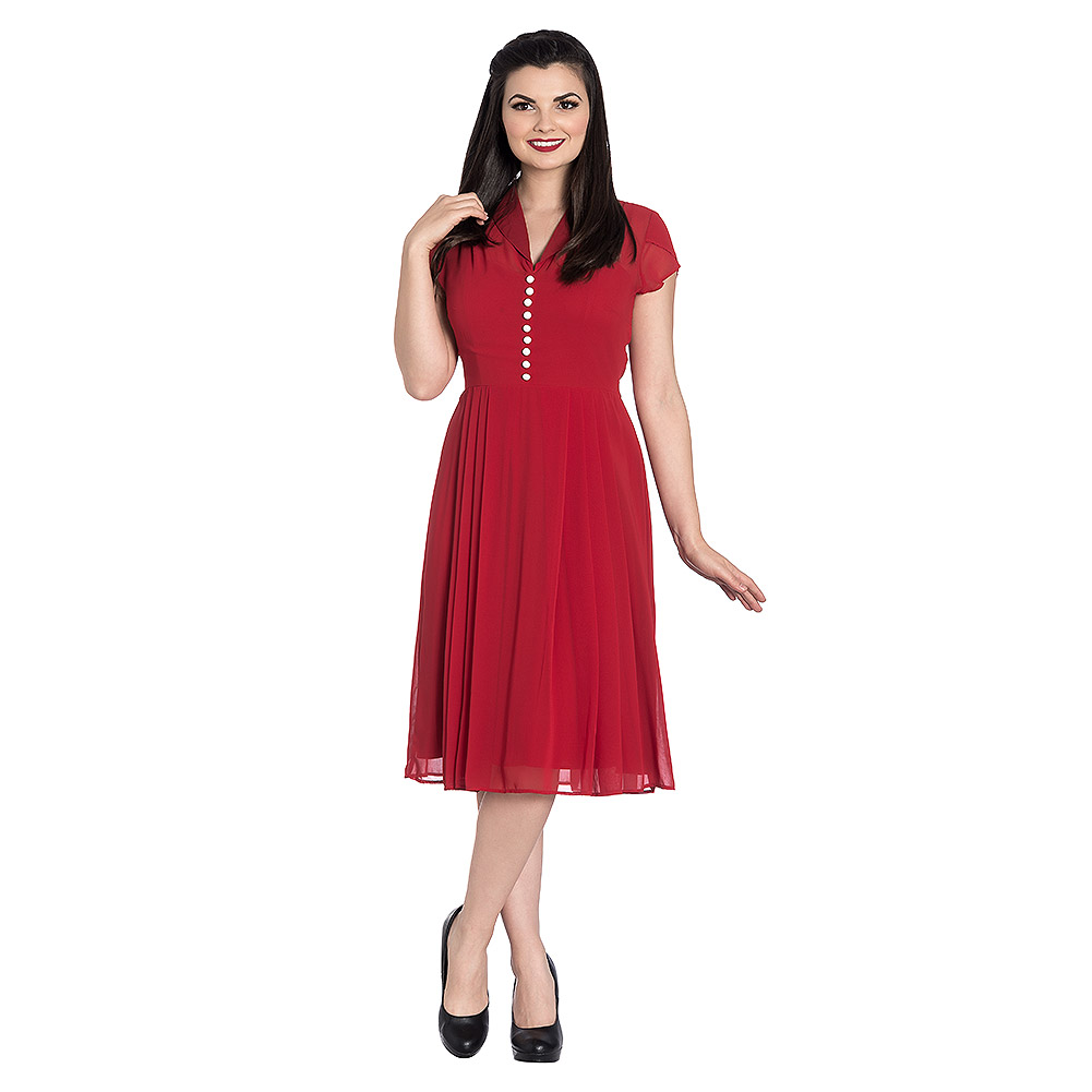 Hell Bunny Paige Dress (Red)