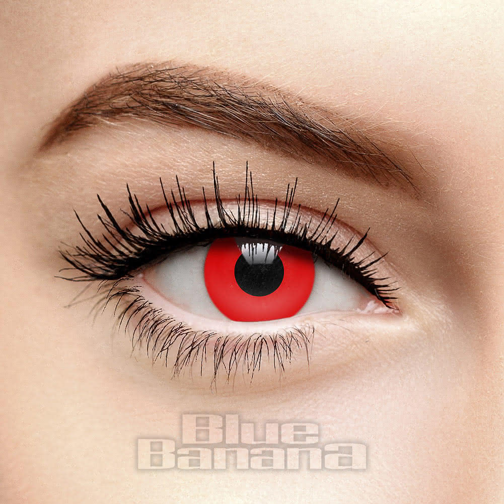 Vampire 90 Day Coloured Prescription Contact Lenses (Red)