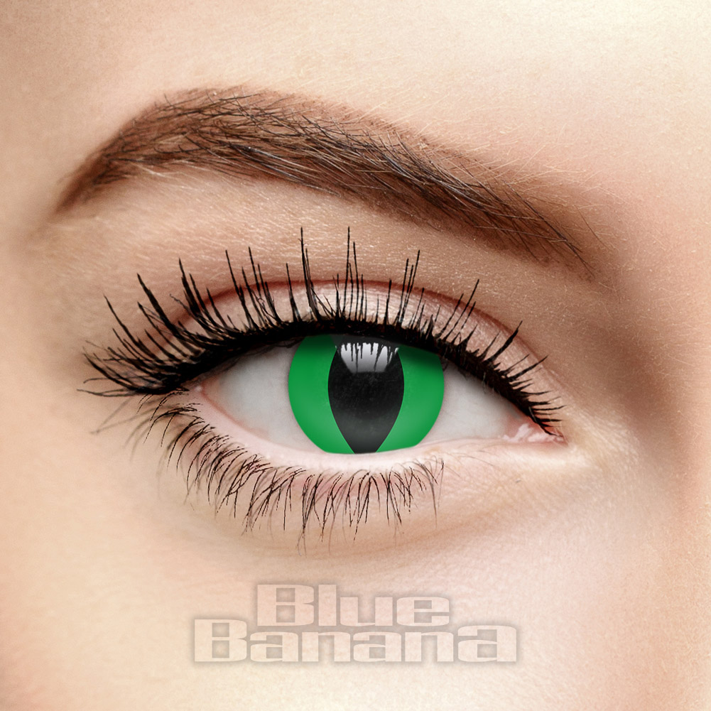 Reptile 90 Day Coloured Prescription Contact Lenses (Green)