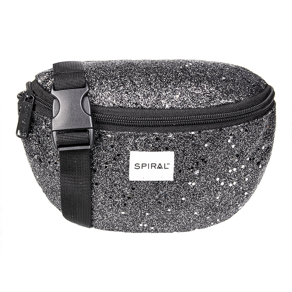Spiral Stardust Bum Bag (Black)