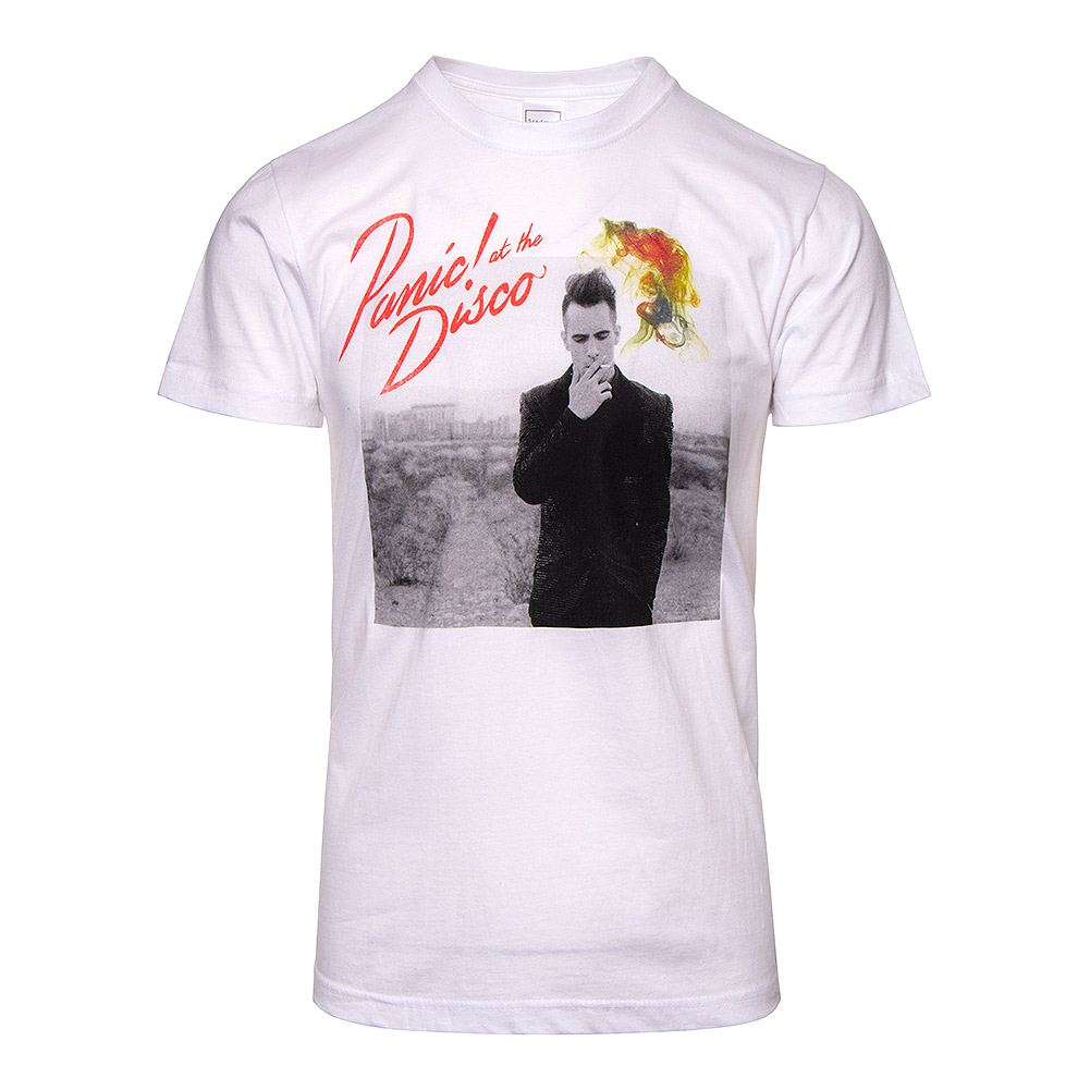 Panic At The Disco Logo Brendon Urie White T Shirt Patd