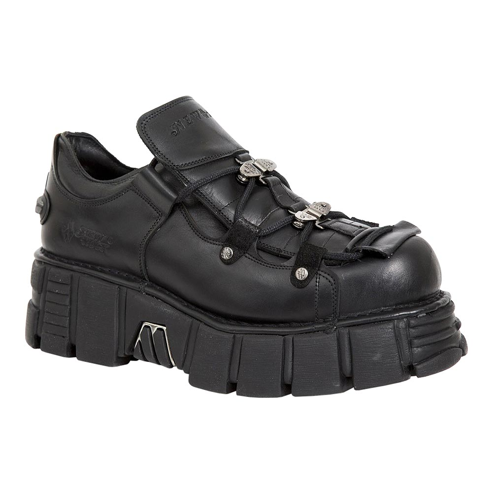 New Rock M.665-S2 Tower Platform Shoes (Black)