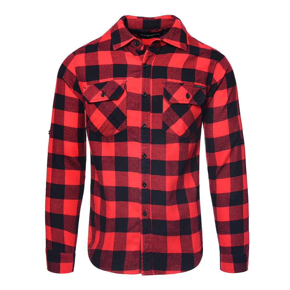 Criminal Damage Jack Chequered Shirt (Red/Black)
