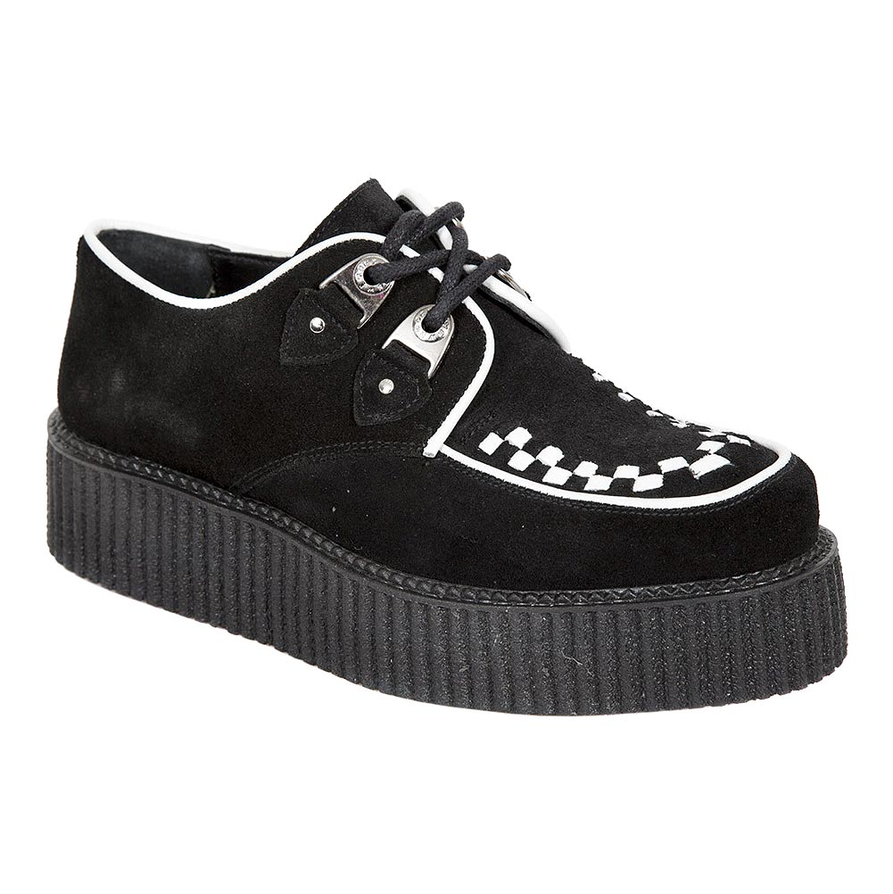 New Rock M.2415-S4 Neo Creeper Chequered Shoes (Black/White)