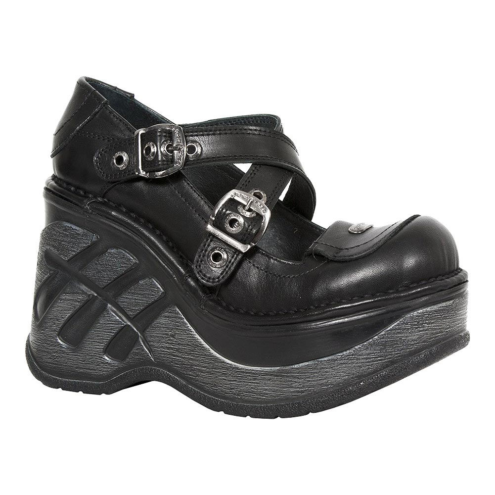 New Rock M.SP9842-S2 Neo Cuna Sport Platform Boots (Black)