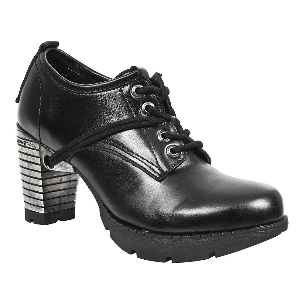 New Rock M.TR011-S3 Trail Heeled Shoes (Black)