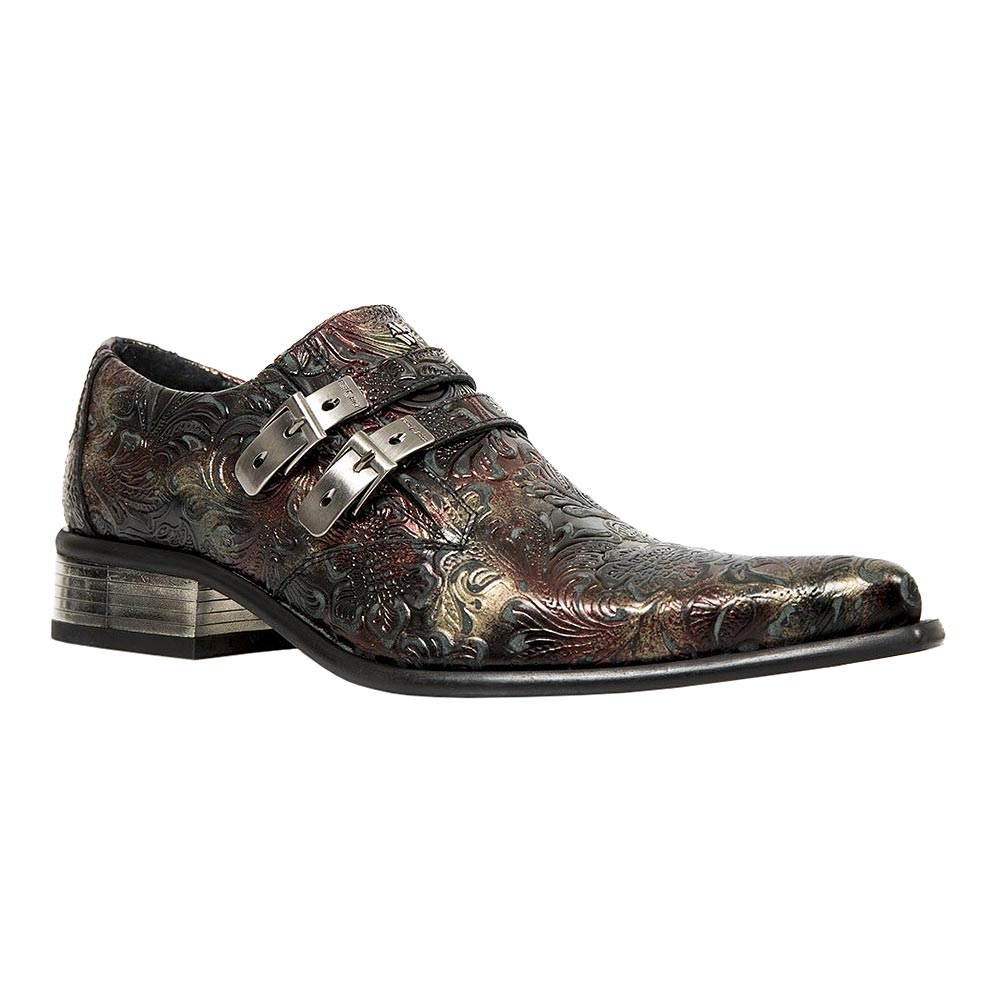New Rock M.2246-S27 Newman Vintage Shoes (Black/Brown)