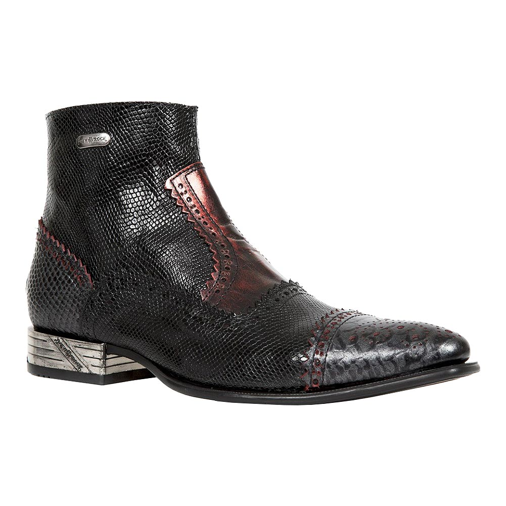 New Rock M.NW133-S7 VIP Ankle Boots (Black/Red)