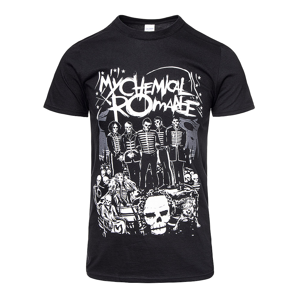 Official My Chemical Romance Dead Parade T Shirt (Black)
