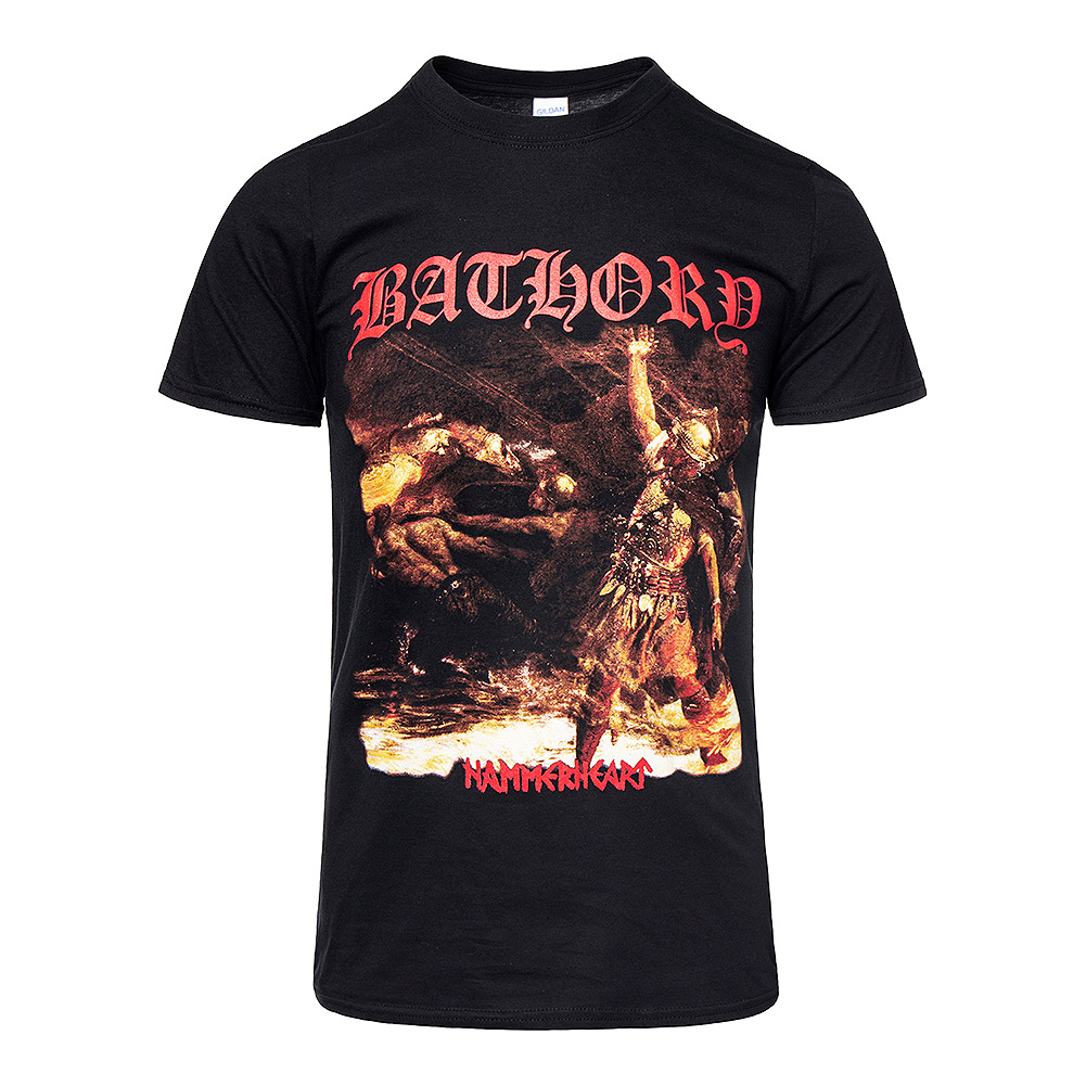 Official Bathory Hammerheart Album T Shirt (Black)