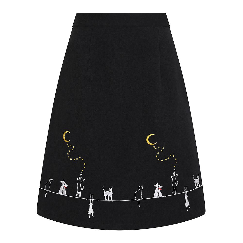 Banned Cats On Roof Skirt (Black)
