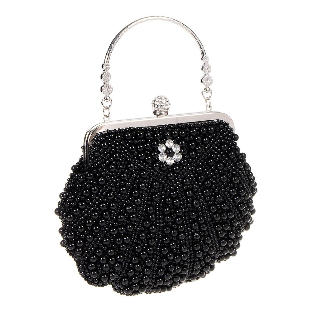 Banned Eleanor 20's Vintage Clutch Bag (Black)