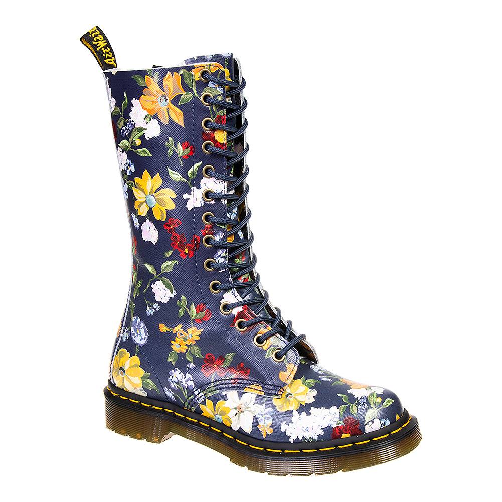 Dr Martens 1914 Darcy Floral Boots (Navy Blau)