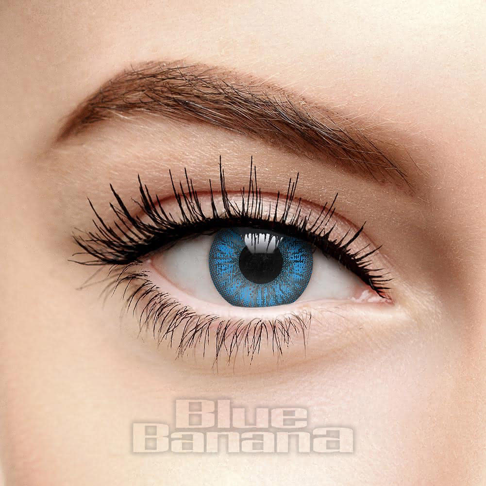 Mystic Two Tone 90 Day Coloured Contact Lenses (Aqua Blue)