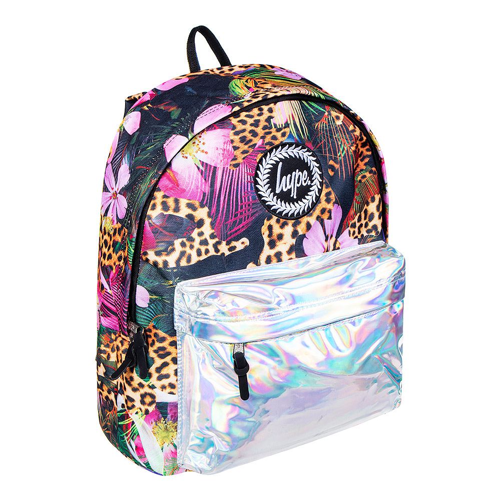 newest collection top design best supplier Details about Hype Holographic Jungle Multicoloured Print Backpack - School  Bag/Rucksack