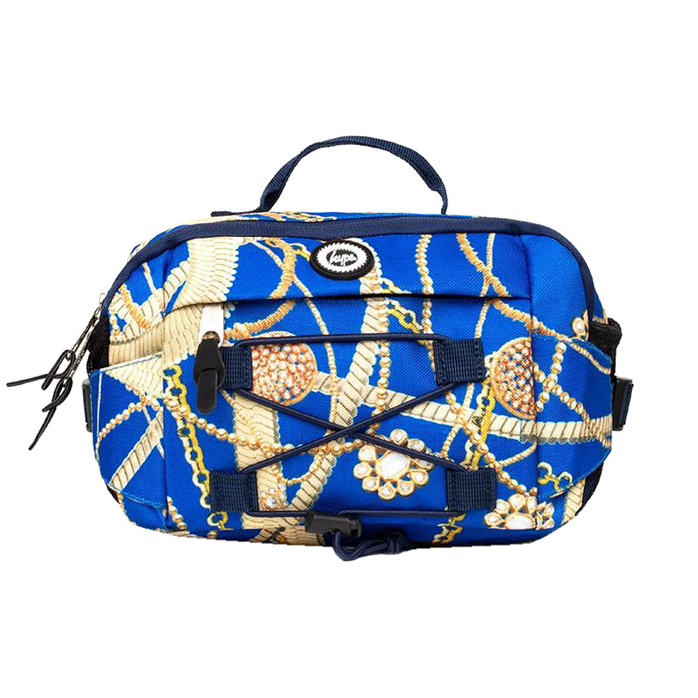 Hype Gold Chains Cross Body Bag (Blue/Gold)