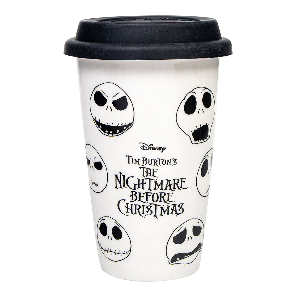 Nightmare Before Christmas Face Of Jack Travel Mug, Disney Cup