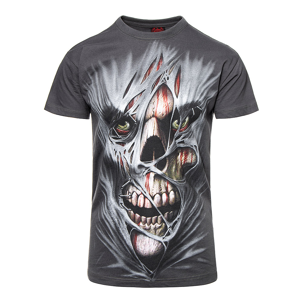 161d016be Spiral Direct Stitched Up T Shirt, Mens Skull Face Tee