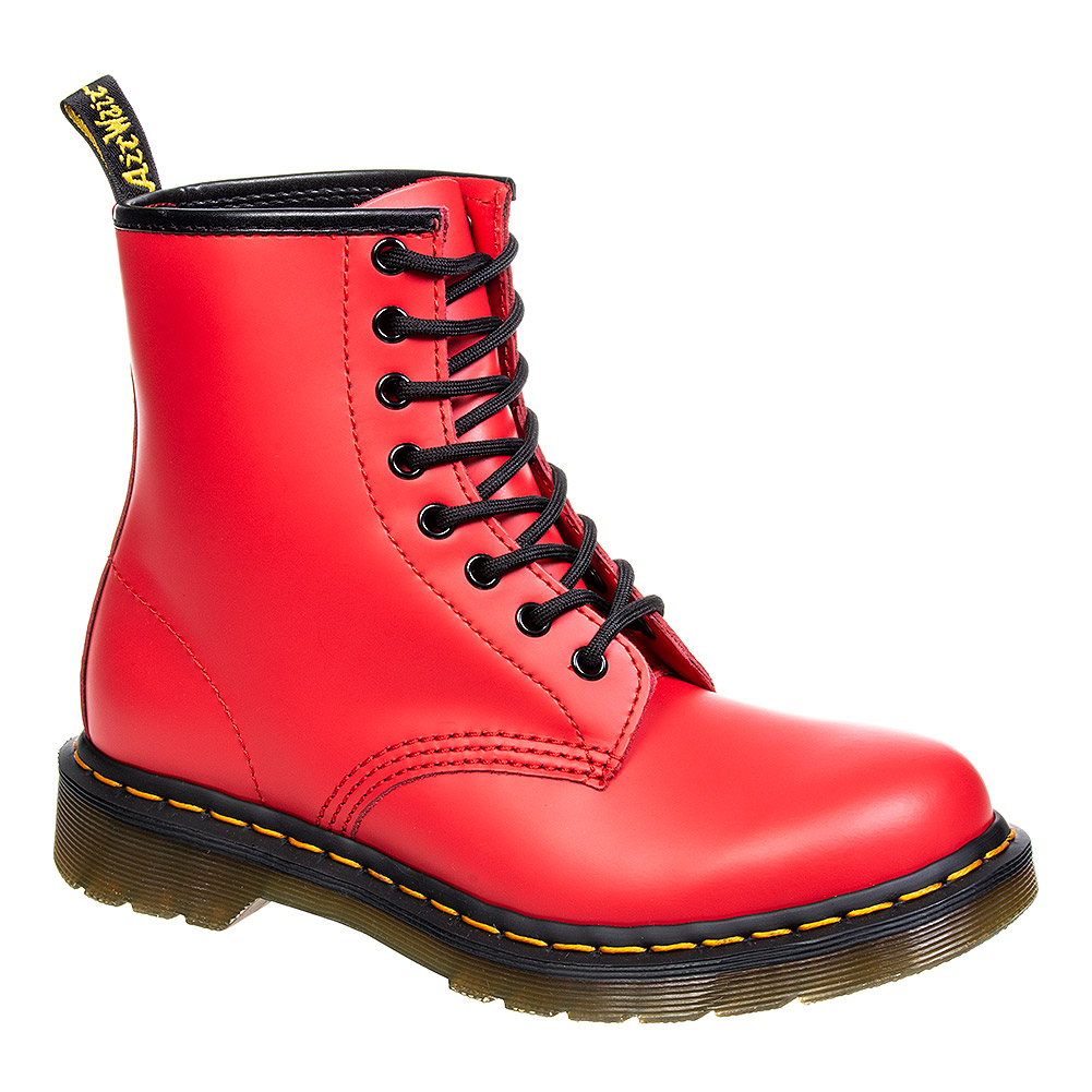 Dr Martens 1460 Smooth Colour Pop Boots (Satchel Red)