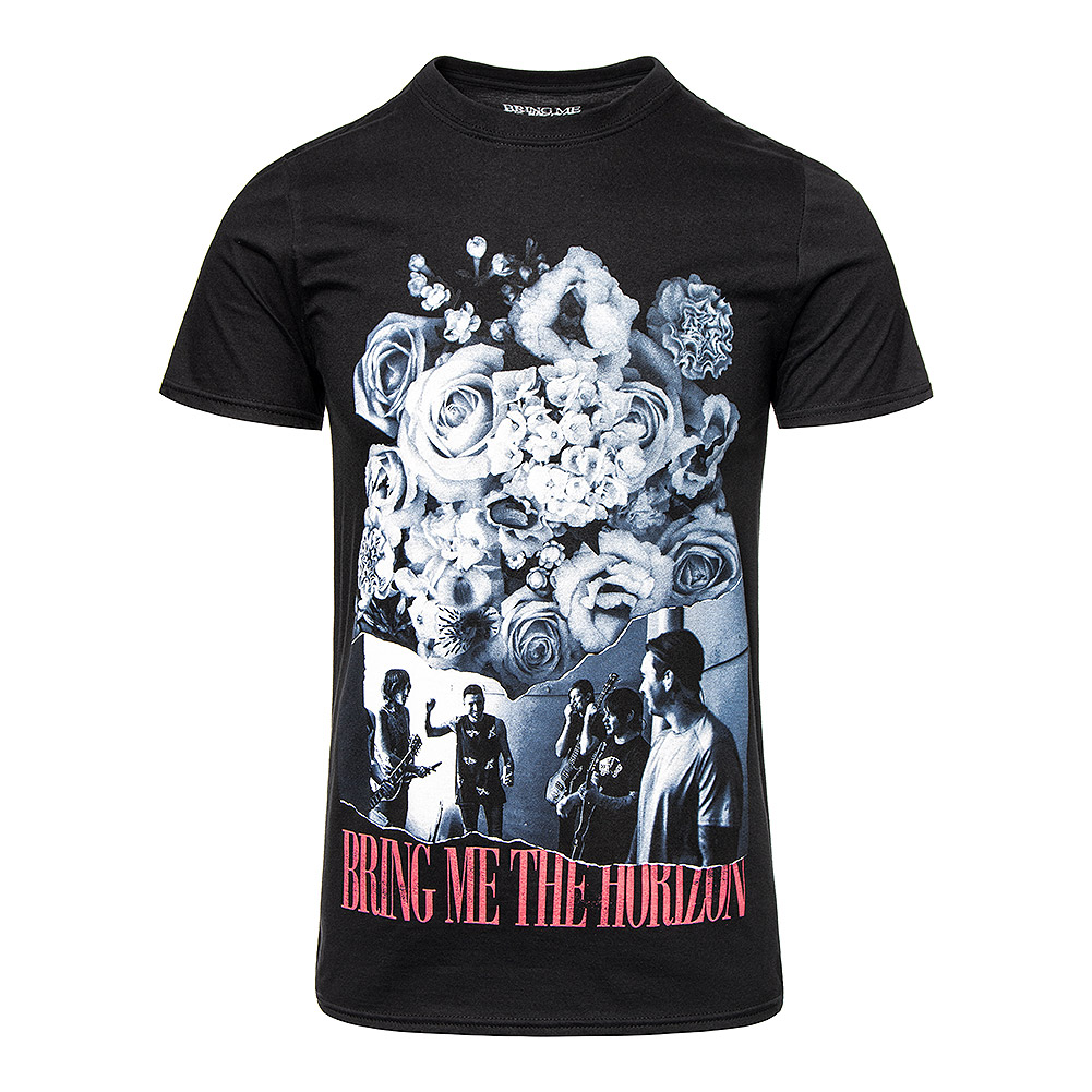 Official Bring Me The Horizon Flowers T Shirt (Black)