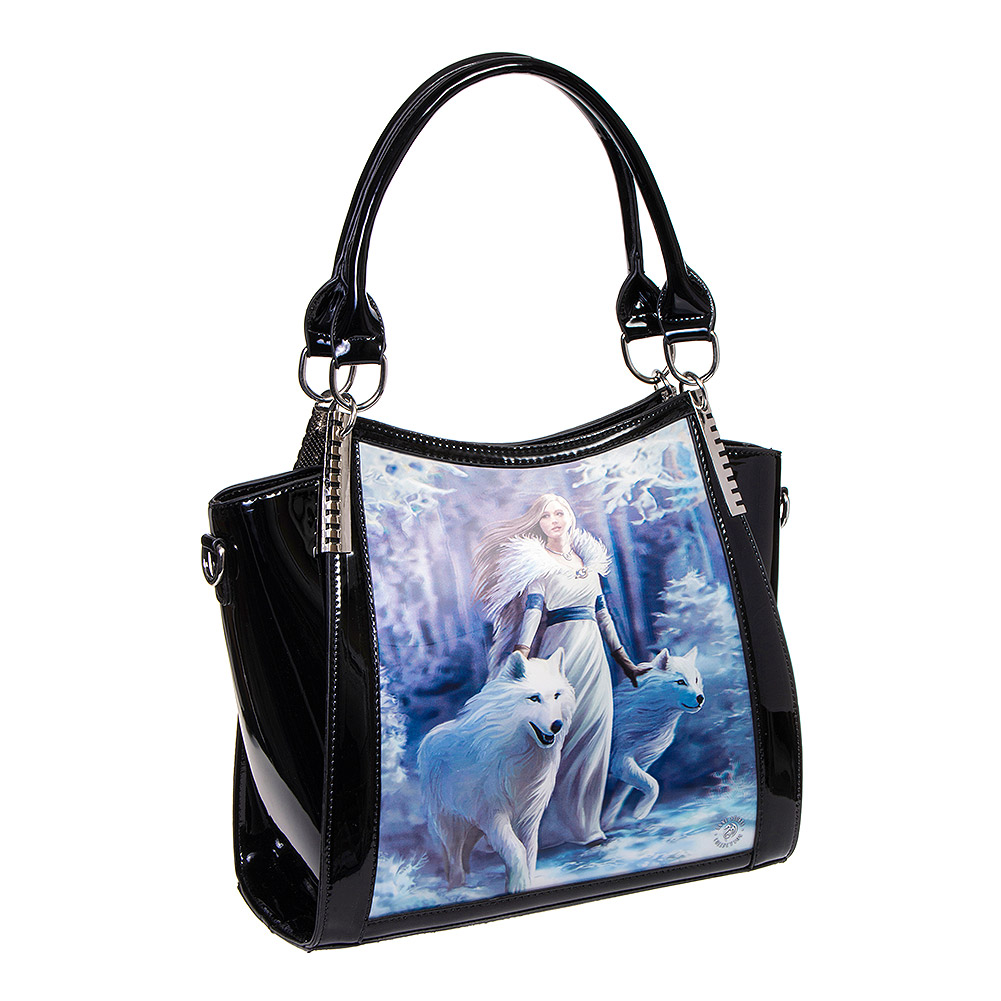 Anne Stokes Winter Guardian 3D Handbag (Black)