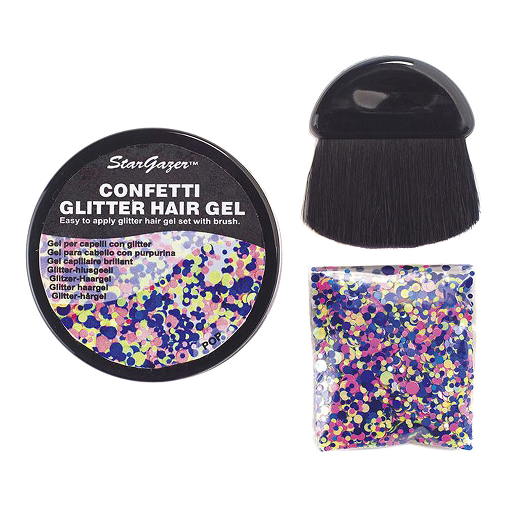 Stargazer Confetti Glitter Hair Gel (Pop)