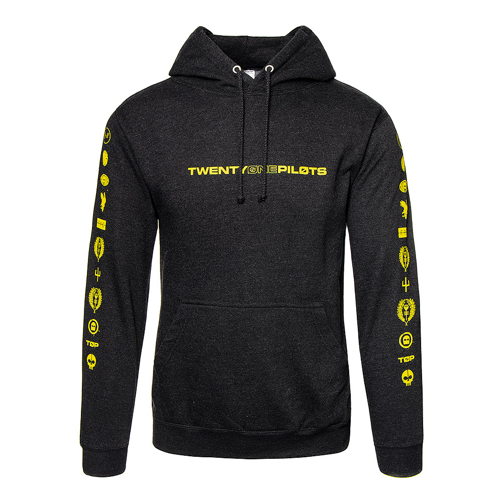 Official Twenty One Pilots Logo Heavy Sweat À Capuche (Noir)