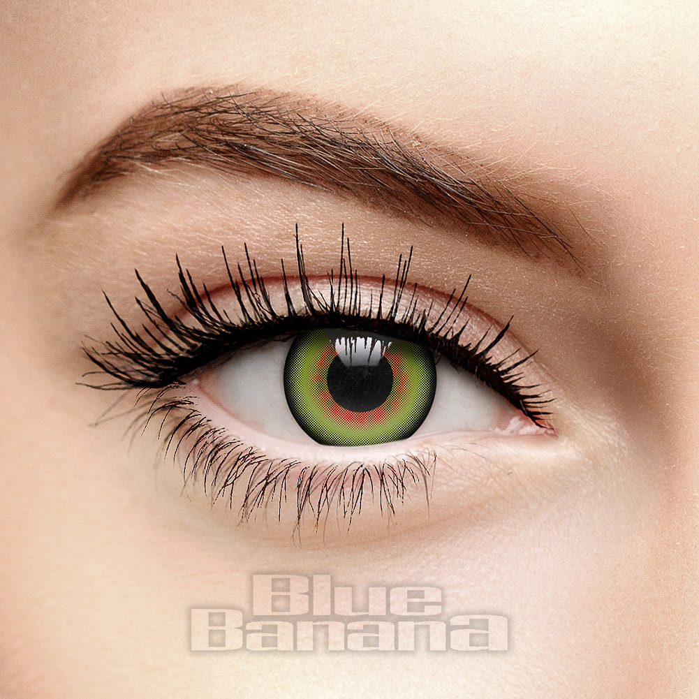 Green Mad Hatter 30 Day Coloured Contact Lenses, Fantasy Eyes ad38baaec22f