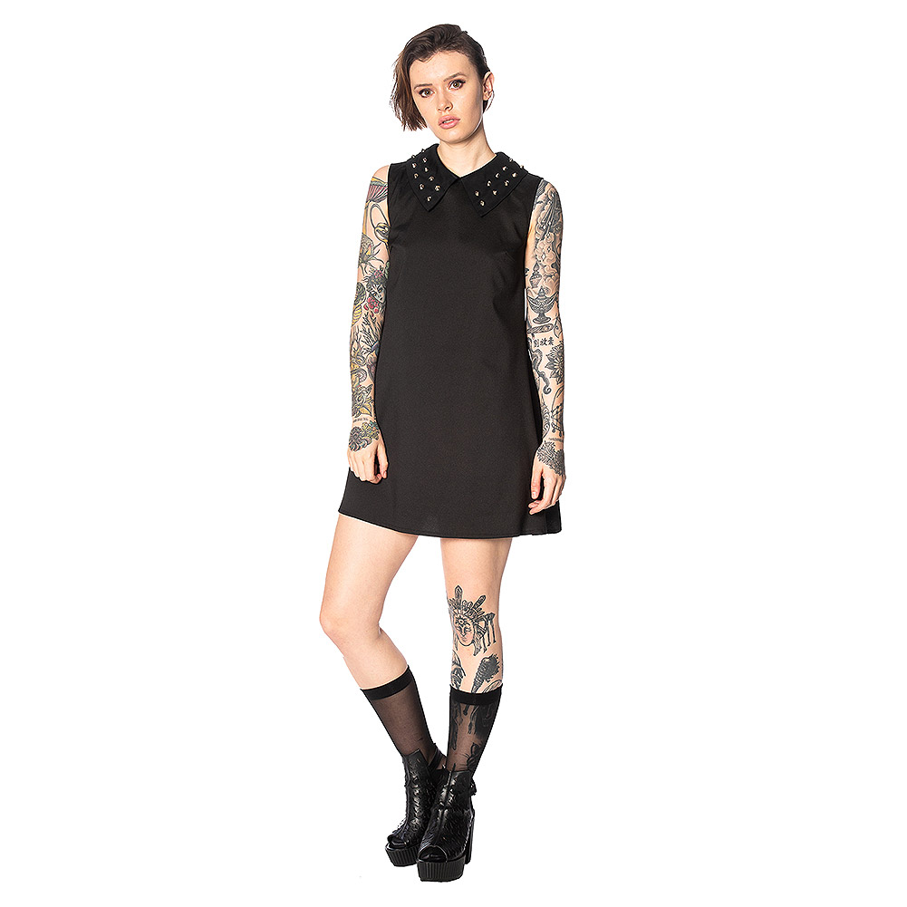 Banned Urban Vamp Shift Dress (Black)