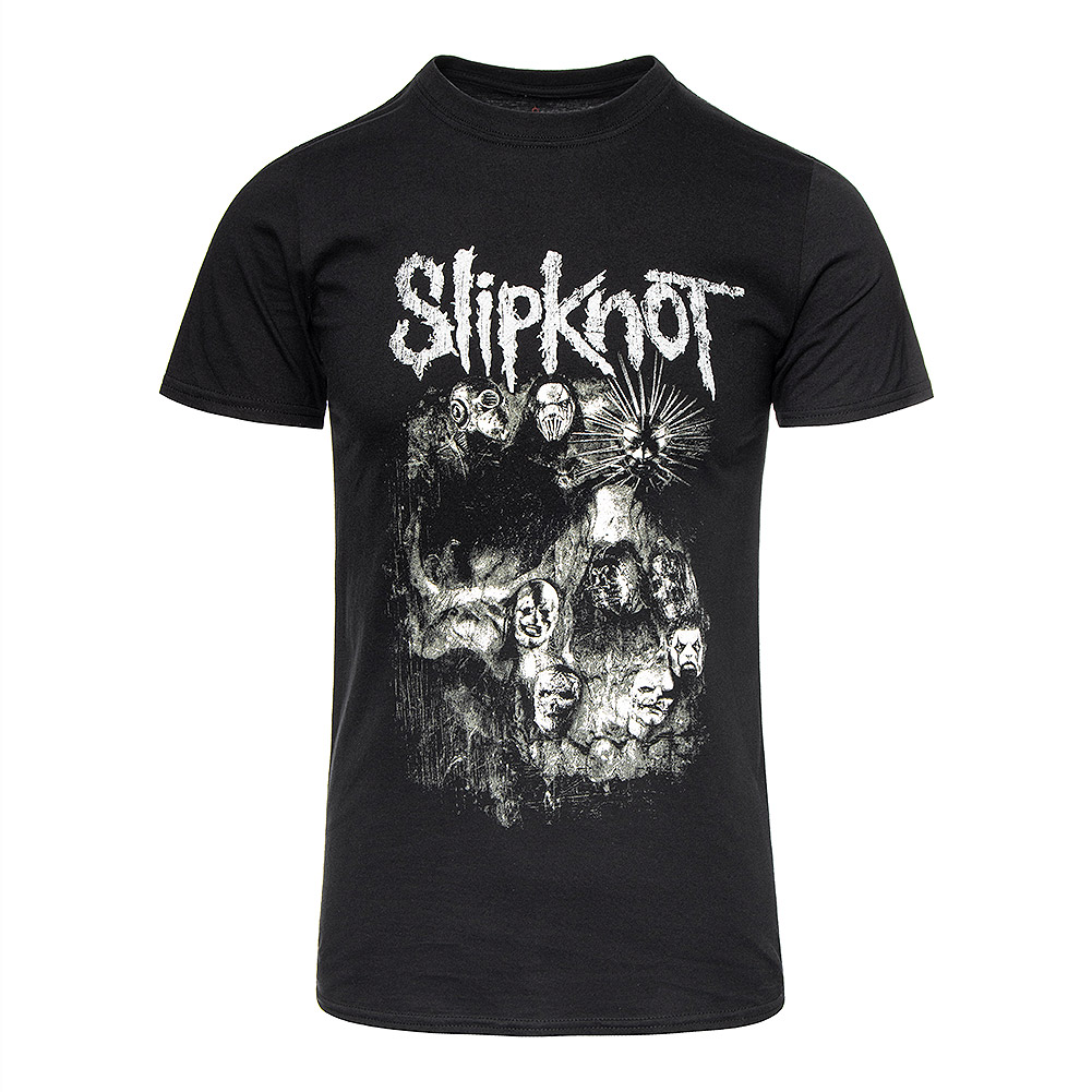 Official Slipknot Skull Group T Shirt (Black)