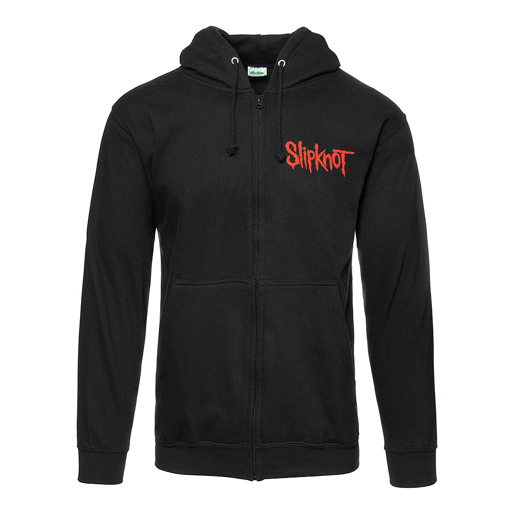 Official Slipknot Skull Teeth Zip Up Hoodie (Black)