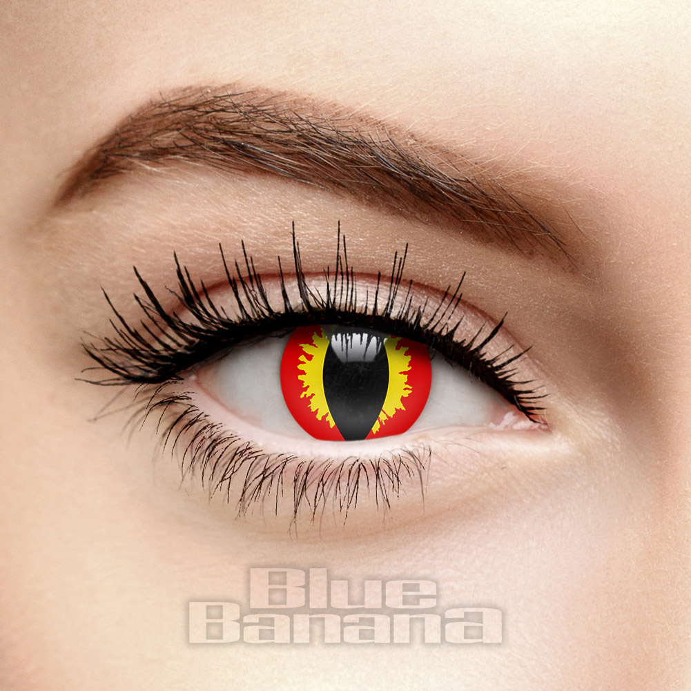 Dragon Eye 1 Day Coloured Contact Lenses (Red)