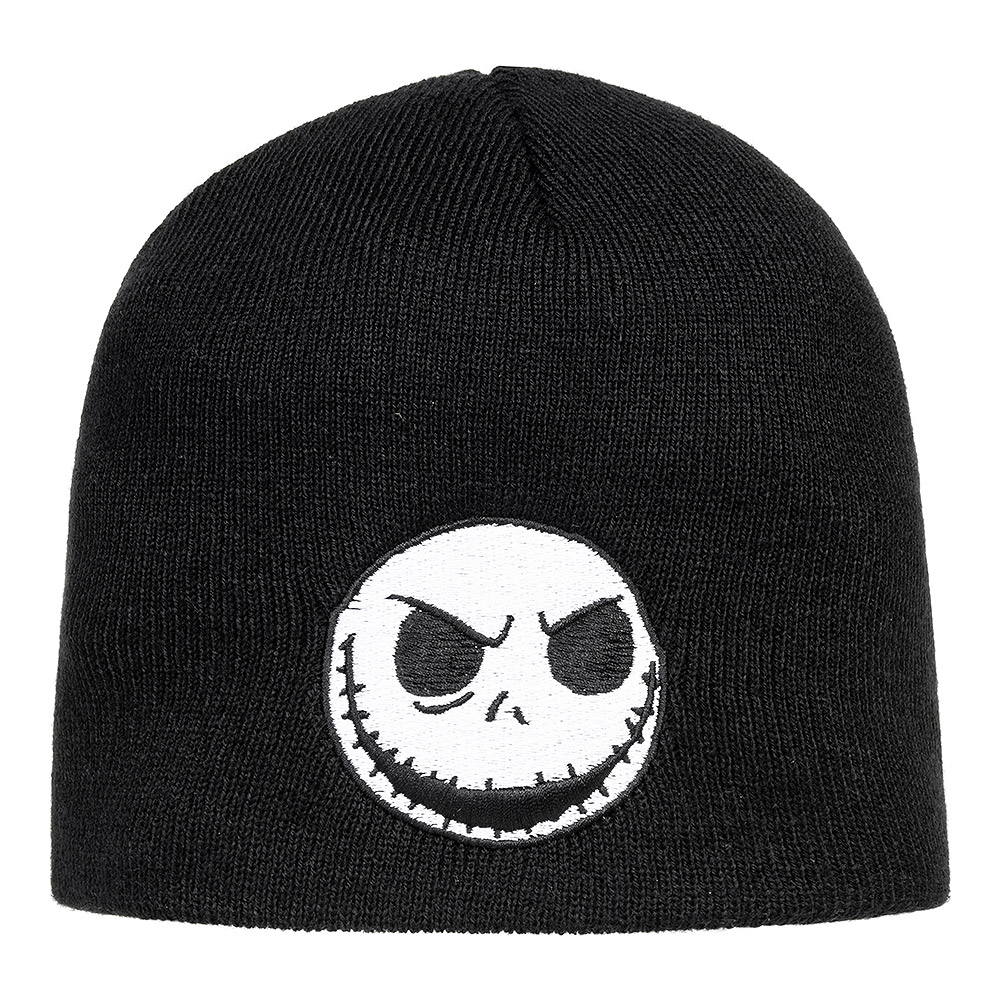 Nightmare Before Christmas Jack Face Beanie Hat (Black)
