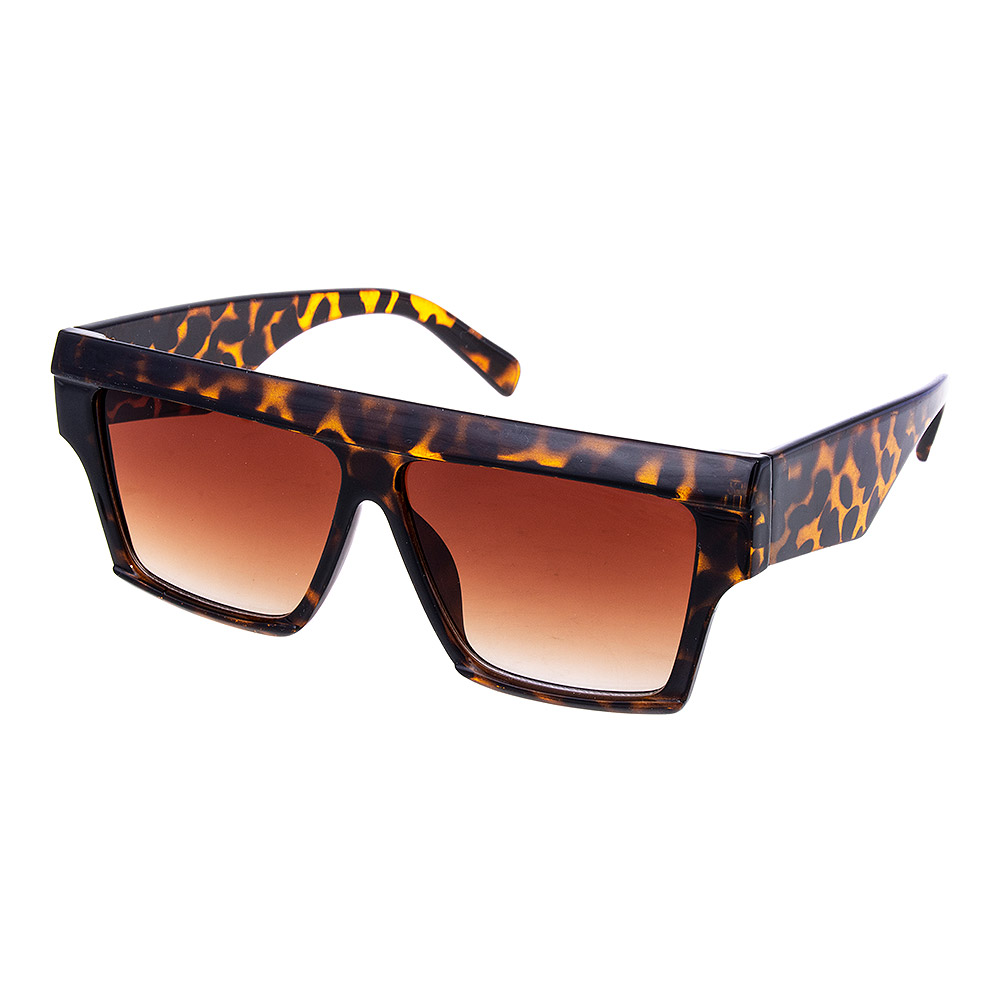 Blue Banana Leopard Bar Sunglasses (Brown)
