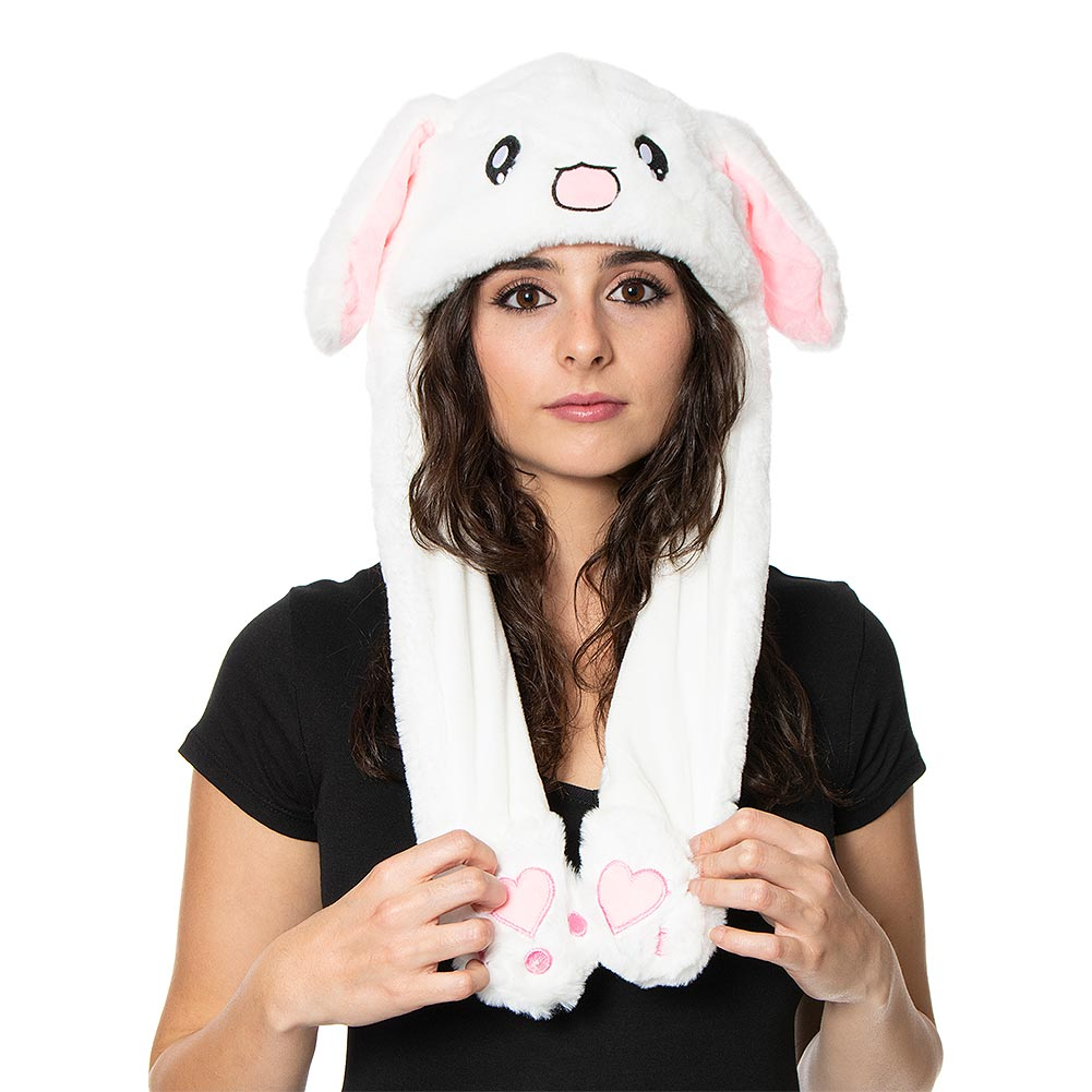 Blue Banana Moving Ears Rabbit Hat (Pink)
