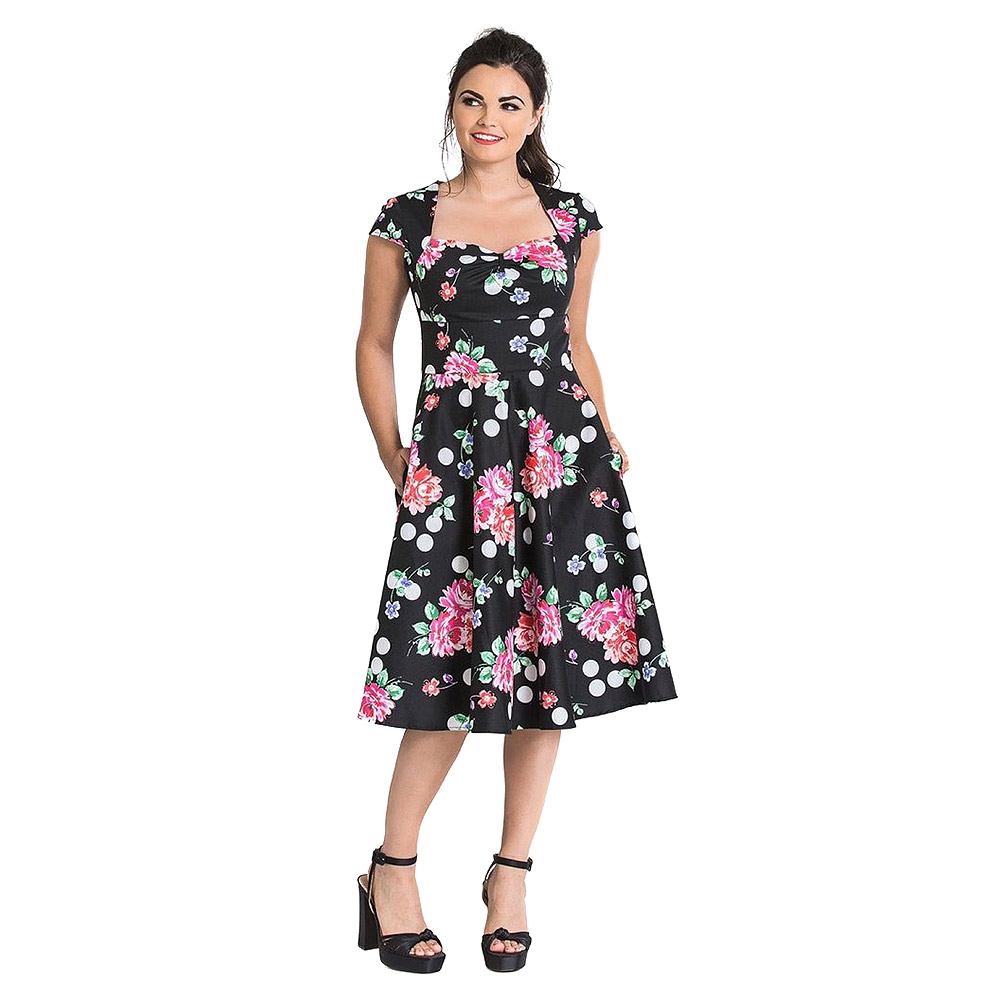 Hell Bunny Carole 50s Dress (Black)