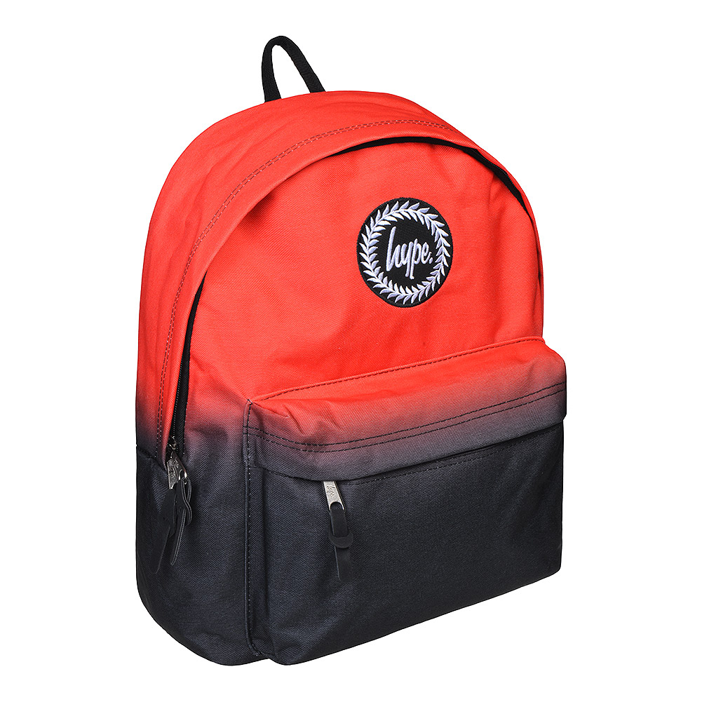 to buy buy popular run shoes Hype Red Black Fade Backpack | Colourful School Rucksack
